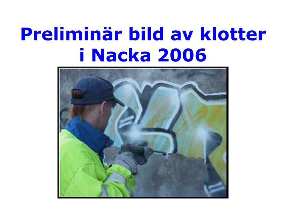 Preliminär bild av klotter i Nacka 2006