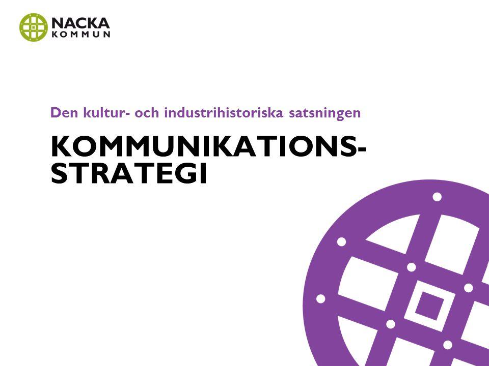 Den kultur- och industrihistoriska satsningen KOMMUNIKATIONS- STRATEGI