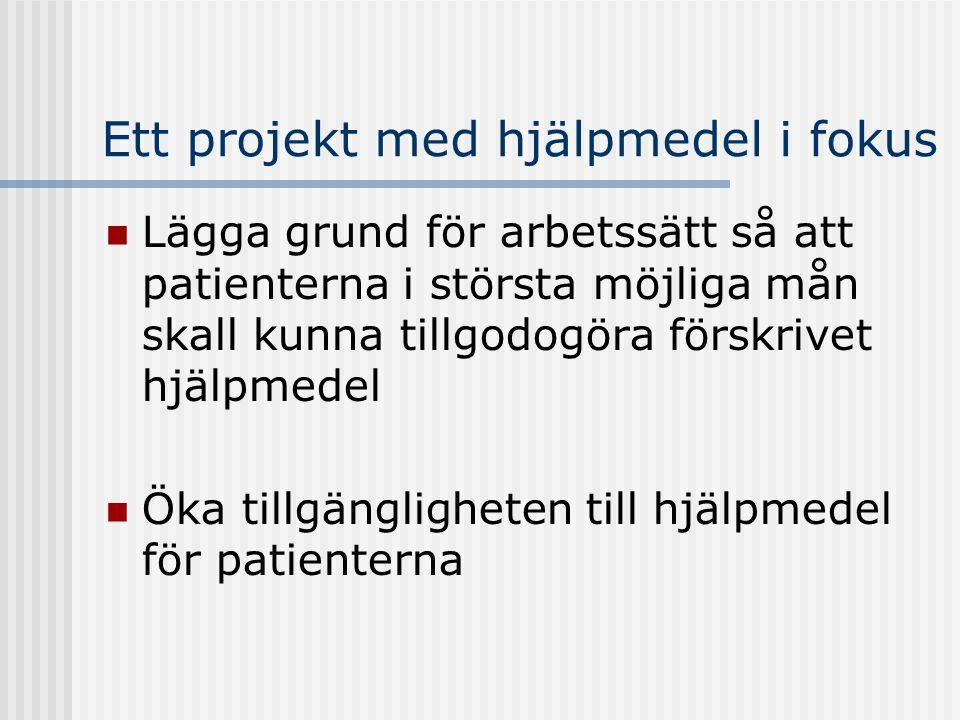 Hjälpmedel Att kompensera funktionsnedsättning och underlätta daglig livsföring Det finns en lång tradition i att förskriva hjälpmedel i Sverige Men… för personer med psykiska funktionshinder har det inte funnits specifika hjälpmedel och ingen tradition att förskriva…