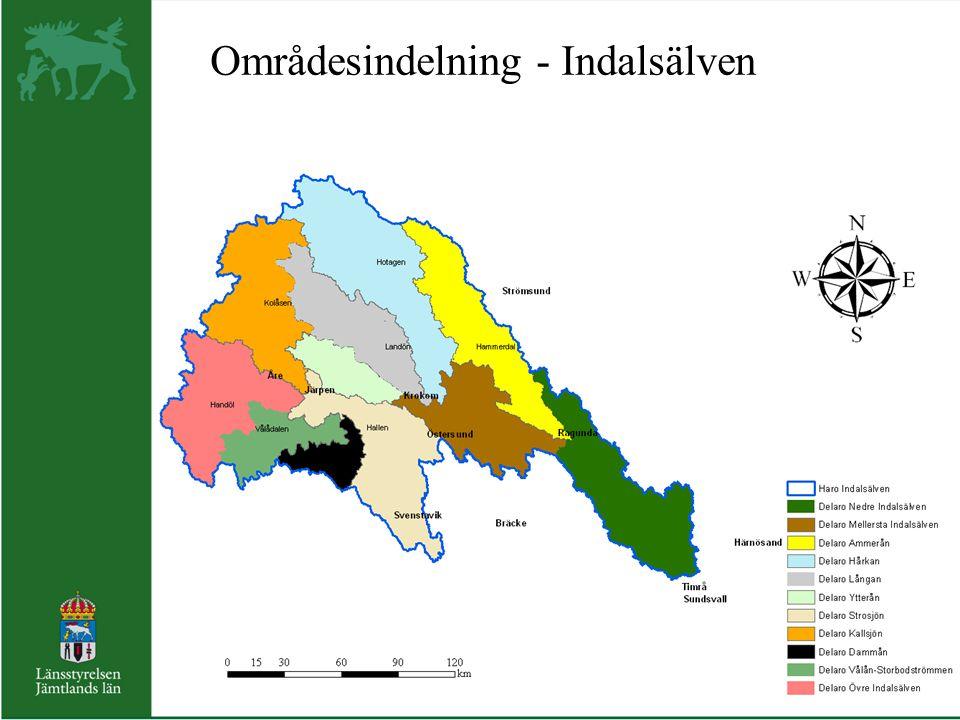 Områdesindelning - Indalsälven