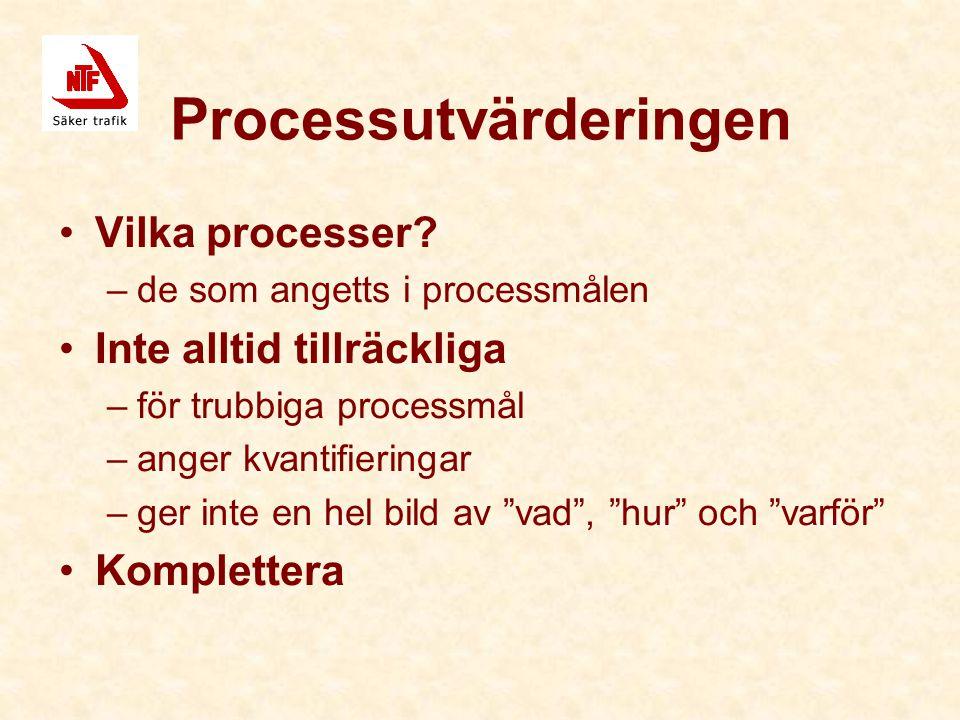 Processutvärderingen Vilka processer.