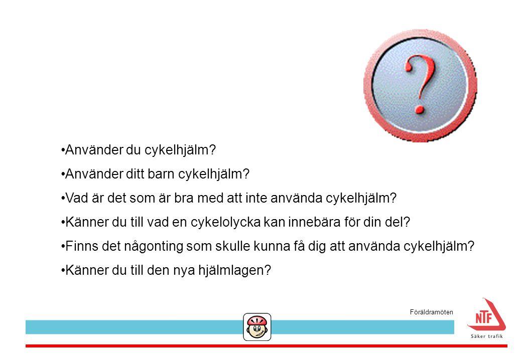Använder du cykelhjälm? Använder ditt barn cykelhjälm? Vad är det som är bra med att inte använda cykelhjälm? Känner du till vad en cykelolycka kan in