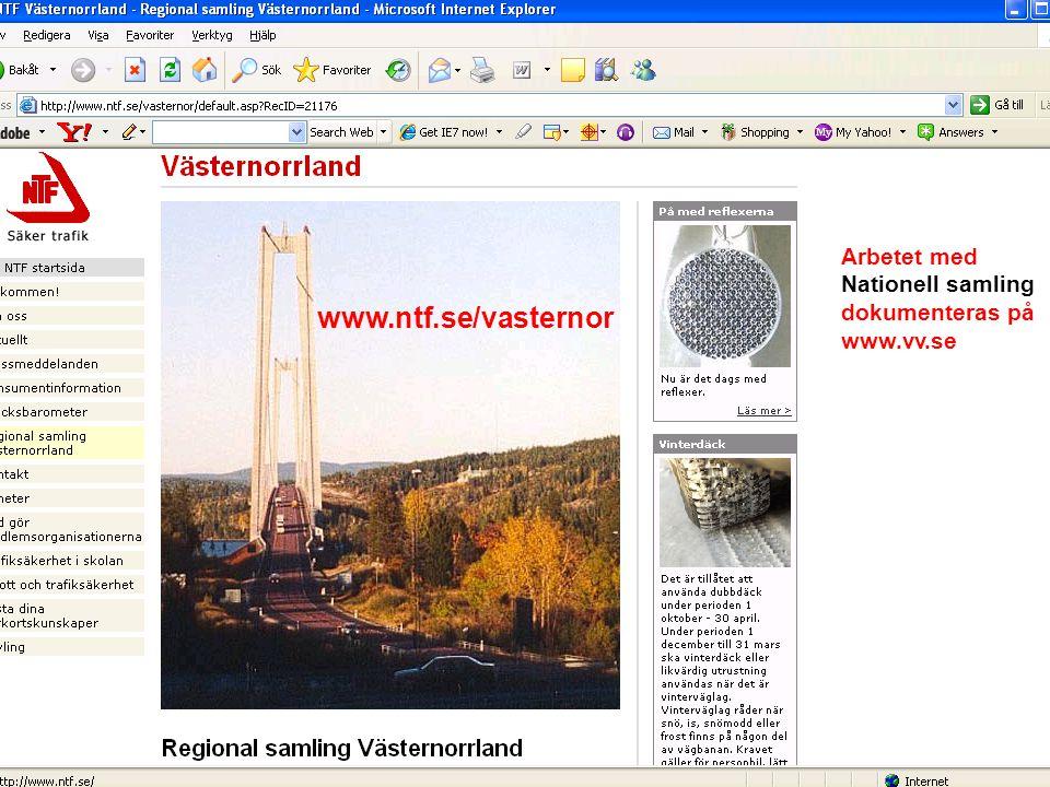 www.ntf.se/vasternor Arbetet med Nationell samling dokumenteras på www.vv.se