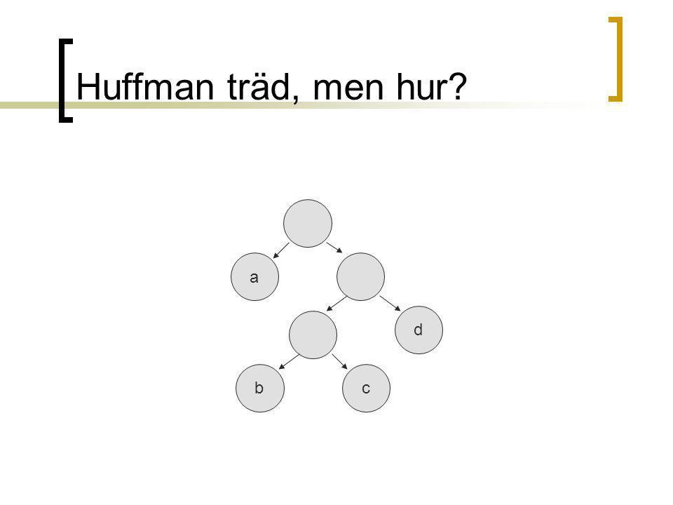Huffman träd, men hur a d bc