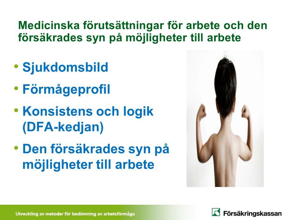 Utveckling av metoder för bedömning av arbetsförmåga Begränsat införande hösten 2011 - Beslut