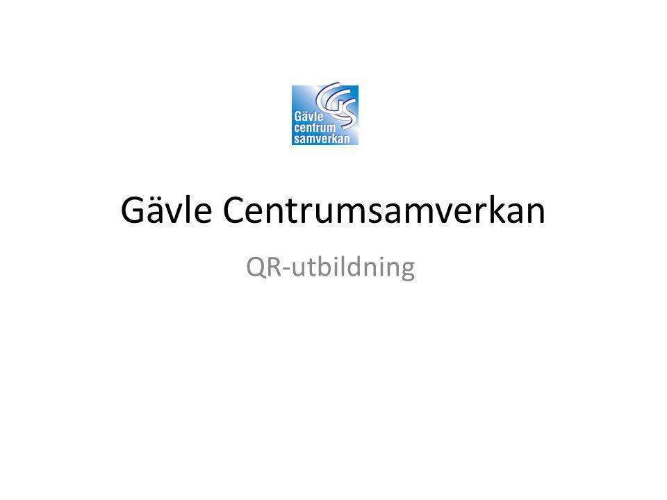 Gävle Centrumsamverkan QR-utbildning