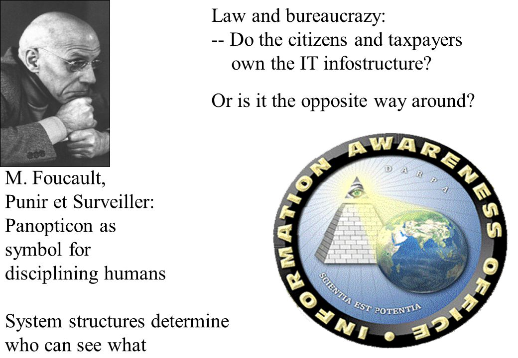 Law and bureaucrazy: -- Do the citizens and taxpayers own the IT infostructure.