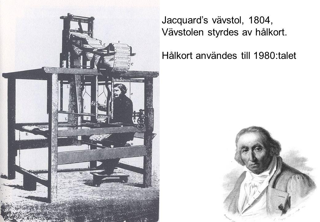 Scheutz Differential Calculator: Stockholm -> Paris(1855) -> Brittiska folkräkningen -> Smithsonian Institution(1900) Babbage blev berömd för en dator som inte fungerade Scheutz (far&son) blev bortglömda fast dom gjorde en som fungerade