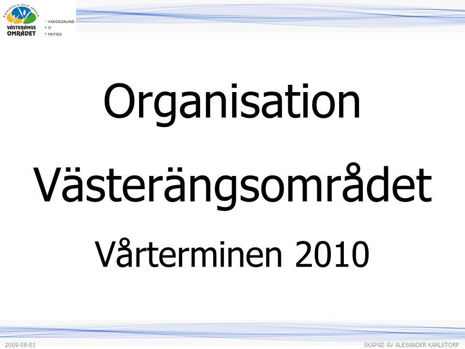 Organisation Västerängsområdet Vårterminen 2010 2009-08-01 SKAPAD AV ALEXANDER KARLSTORP