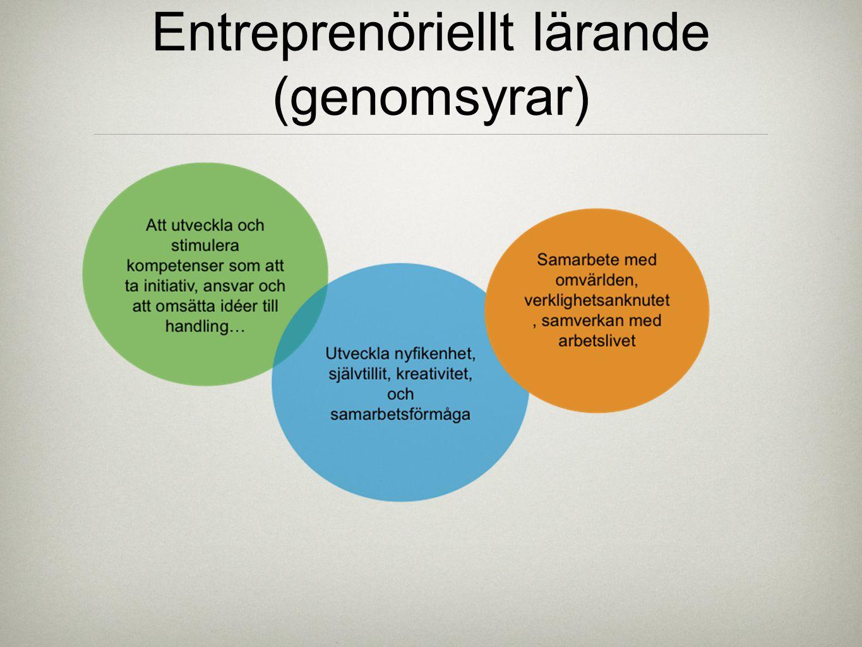 Entreprenöriellt lärande (genomsyrar)