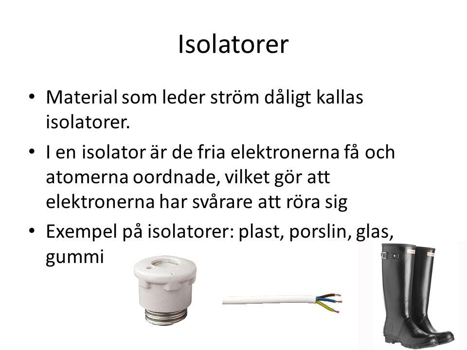 Exempel på isolatorer
