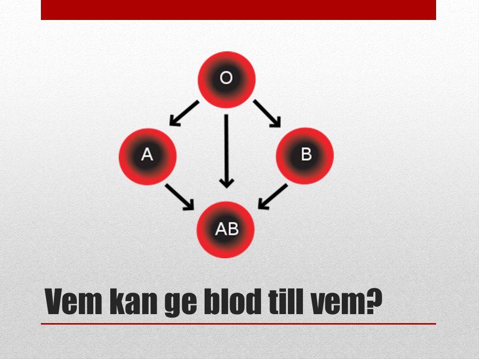 Vem kan ge blod till vem?