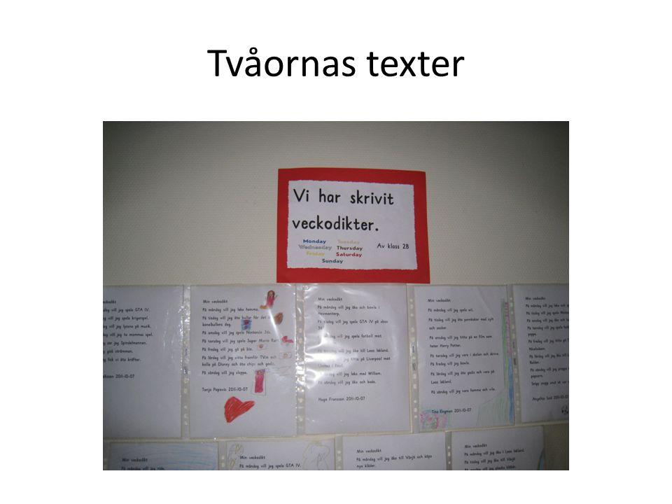 Tvåornas texter