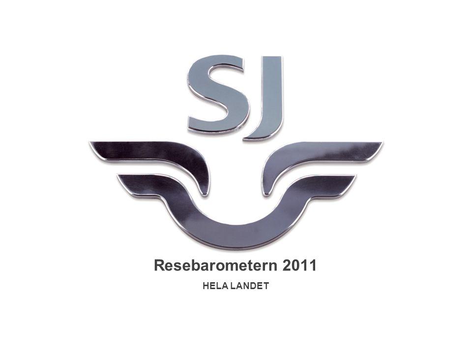 Resebarometern 2011 HELA LANDET