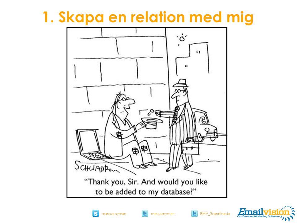 slide 14 marcus.nymanmarcusnyman EMV_Scandinavia 1. Skapa en relation med mig