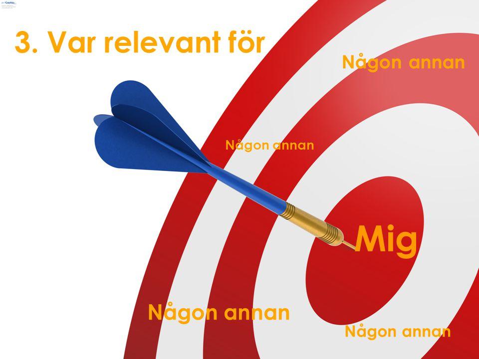 slide 27 marcus.nymanmarcusnyman EMV_Scandinavia 3. Var relevant för Mig Någon annan