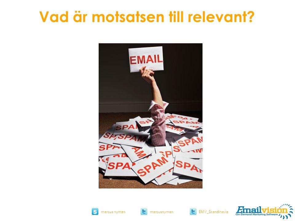slide 31 marcus.nymanmarcusnyman EMV_Scandinavia Vad är motsatsen till relevant
