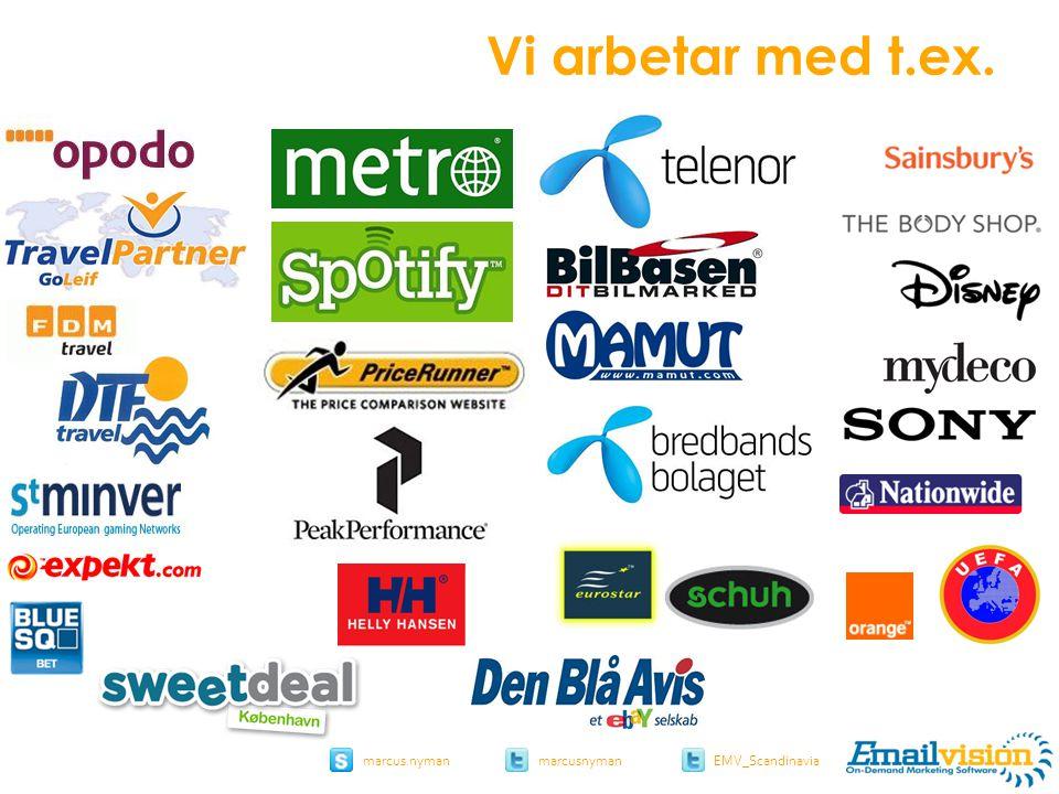 slide 4 marcus.nymanmarcusnyman EMV_Scandinavia Vi arbetar med t.ex.