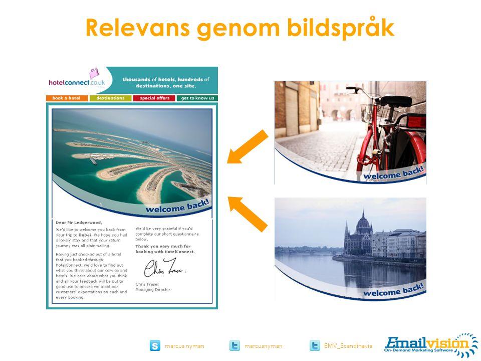 slide 40 marcus.nymanmarcusnyman EMV_Scandinavia hotelconnect.co.uk Relevans genom bildspråk