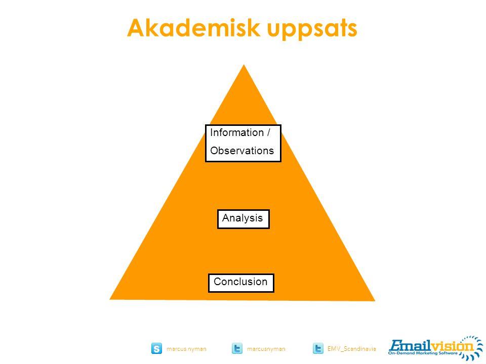 slide 43 marcus.nymanmarcusnyman EMV_Scandinavia Information / Observations Conclusion Analysis Akademisk uppsats