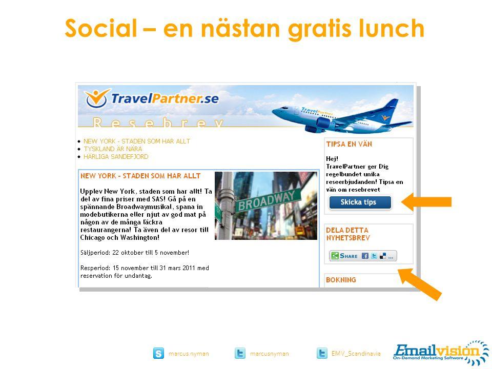 slide 51 marcus.nymanmarcusnyman EMV_Scandinavia Social – en nästan gratis lunch
