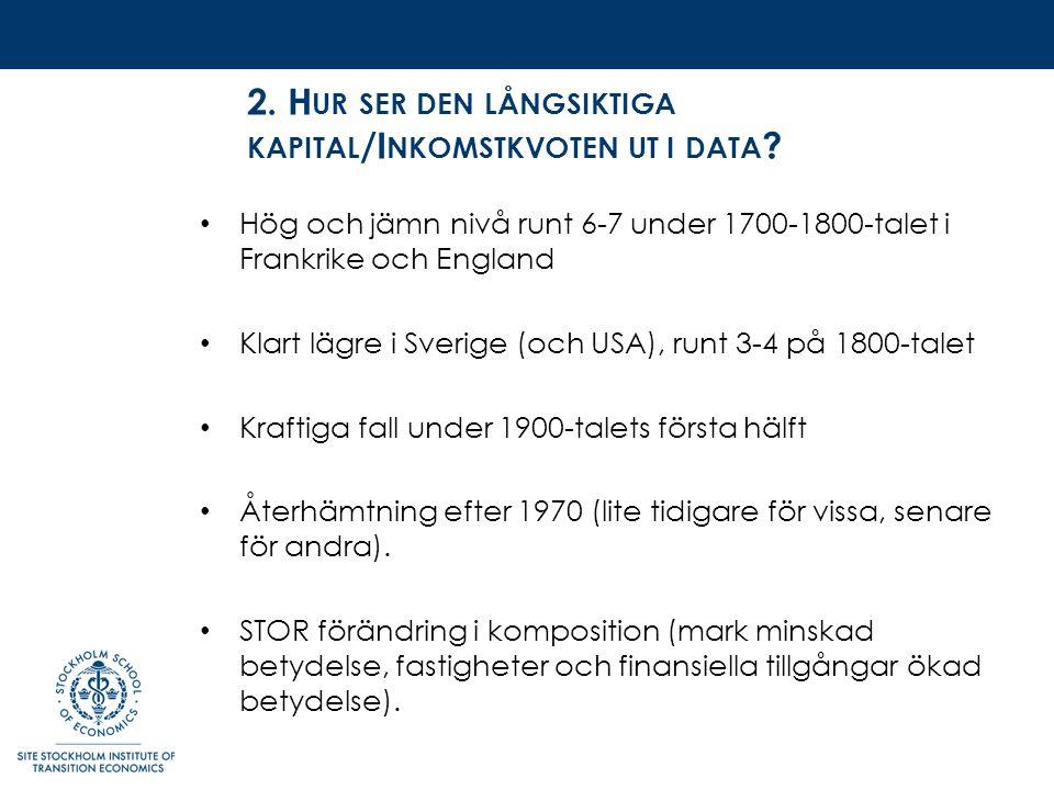 2. H UR SER DEN LÅNGSIKTIGA KAPITAL /I NKOMSTKVOTEN UT I DATA .