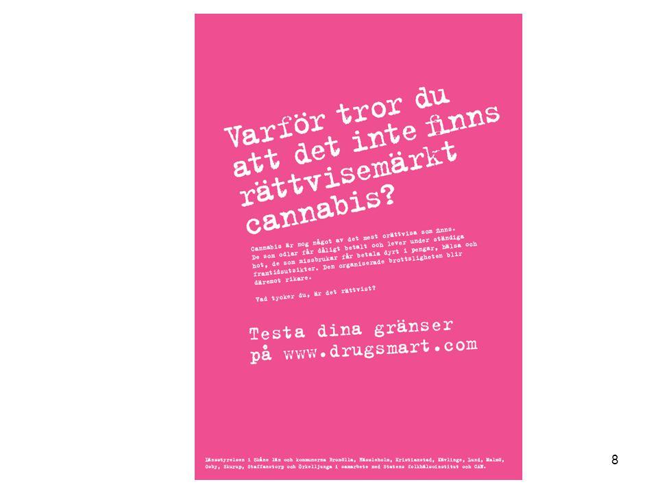 Kunskapsfrågor om cannabis (andel korrekta svar) Syre Reklambyrå AB NordAnalys AB Här följer ett antal påståenden om cannabis (hasch/marijuana).