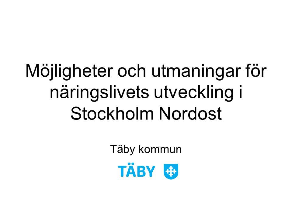 Möjligheter och utmaningar för näringslivets utveckling i Stockholm Nordost Täby kommun