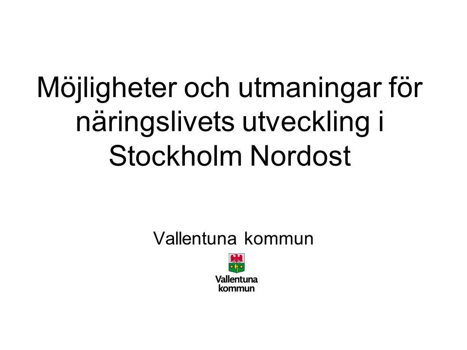 Möjligheter och utmaningar för näringslivets utveckling i Stockholm Nordost Vallentuna kommun