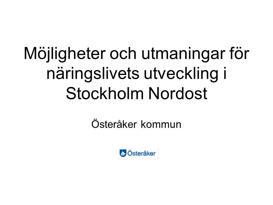 Möjligheter och utmaningar för näringslivets utveckling i Stockholm Nordost Österåker kommun