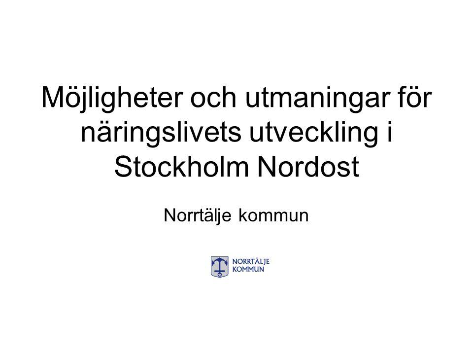 Möjligheter och utmaningar för näringslivets utveckling i Stockholm Nordost Norrtälje kommun