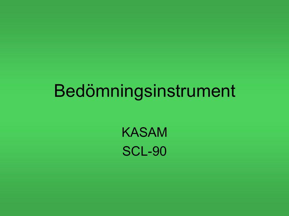 Bedömningsinstrument KASAM SCL-90