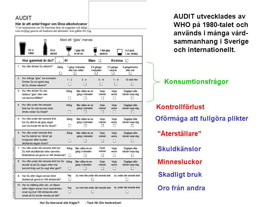 Utveckling av DUDIT 25 instrument med 200 frågor 3 test versioner DUDIT + DUDIT-E Berman, A.