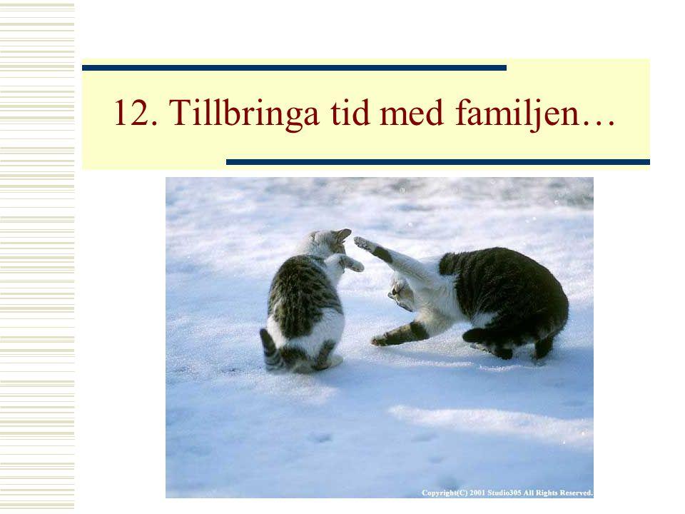 12. Tillbringa tid med familjen…