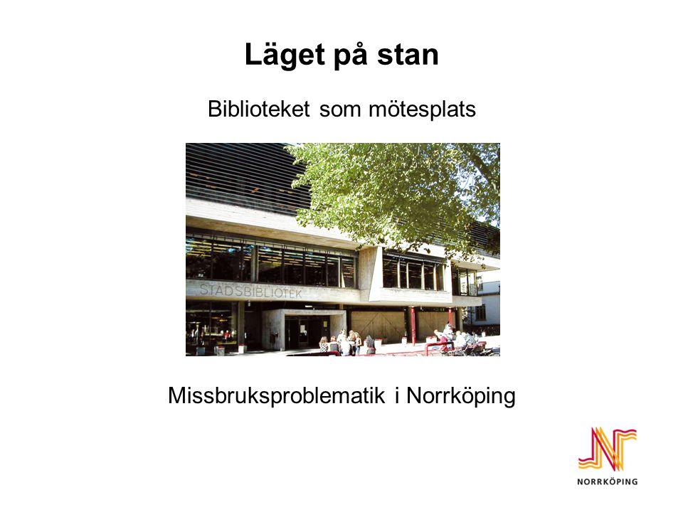 Läget på stan Biblioteket som mötesplats Missbruksproblematik i Norrköping