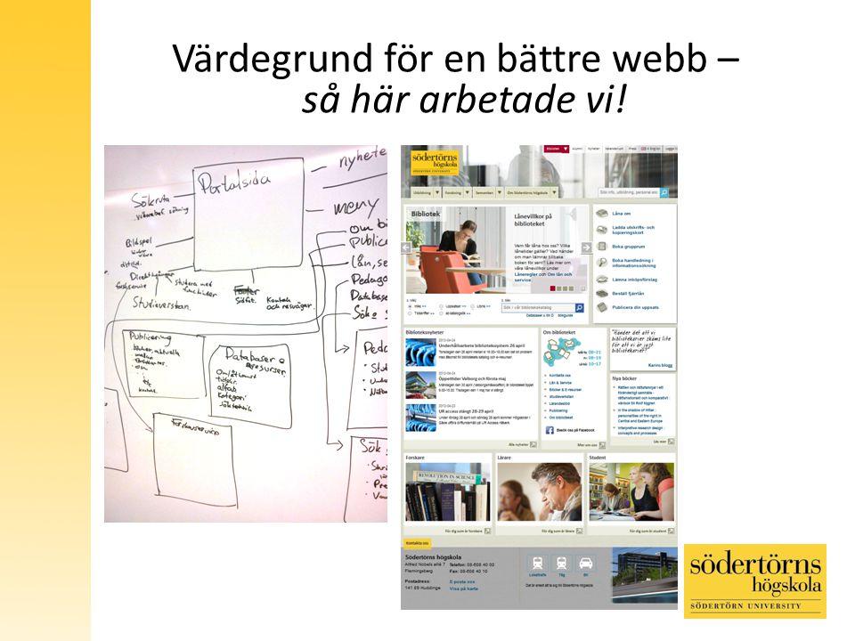 Värdegrund för en bättre webb – så här arbetade vi!