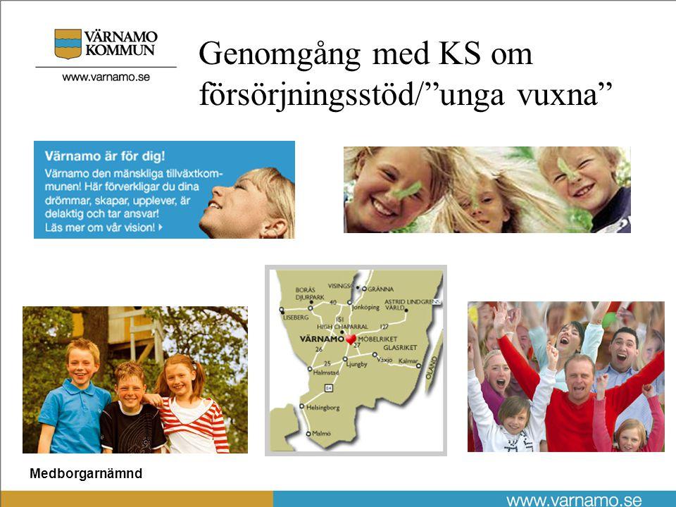 Medborgarnämnd Genomgång med KS om försörjningsstöd/ unga vuxna