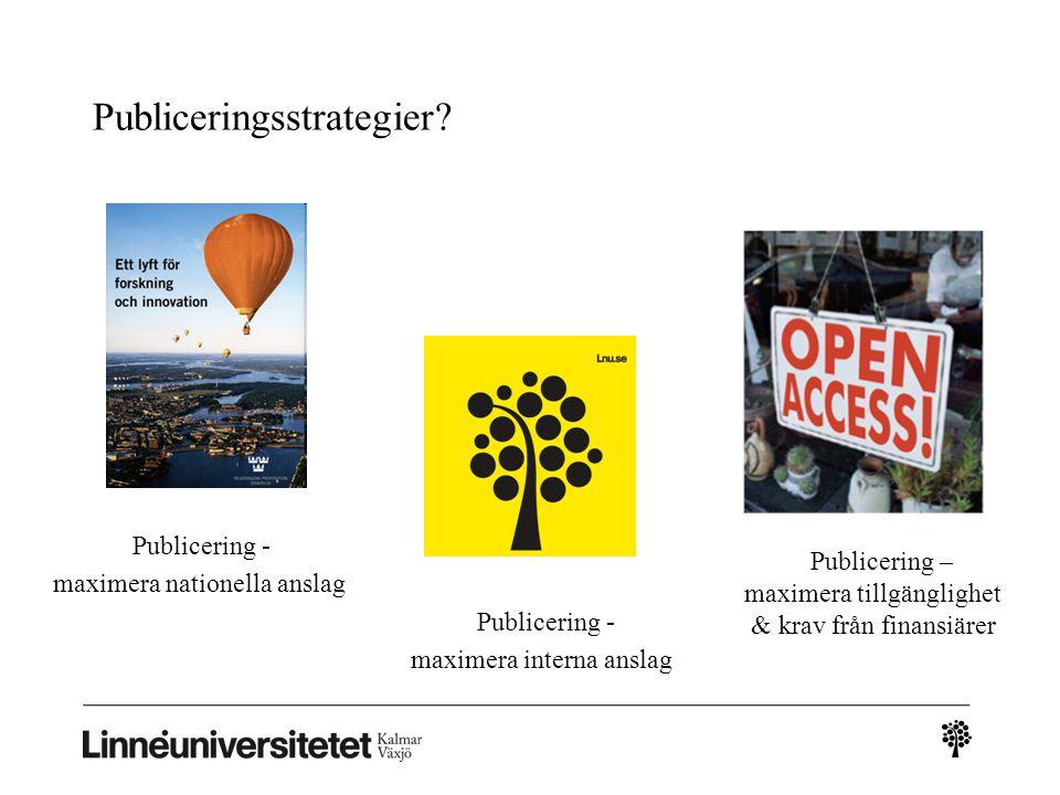 Publiceringsstrategier.