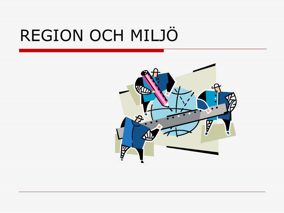 Att identifiera regioner  För att identifiera en region måste man bestämma ett syfte, t.ex.