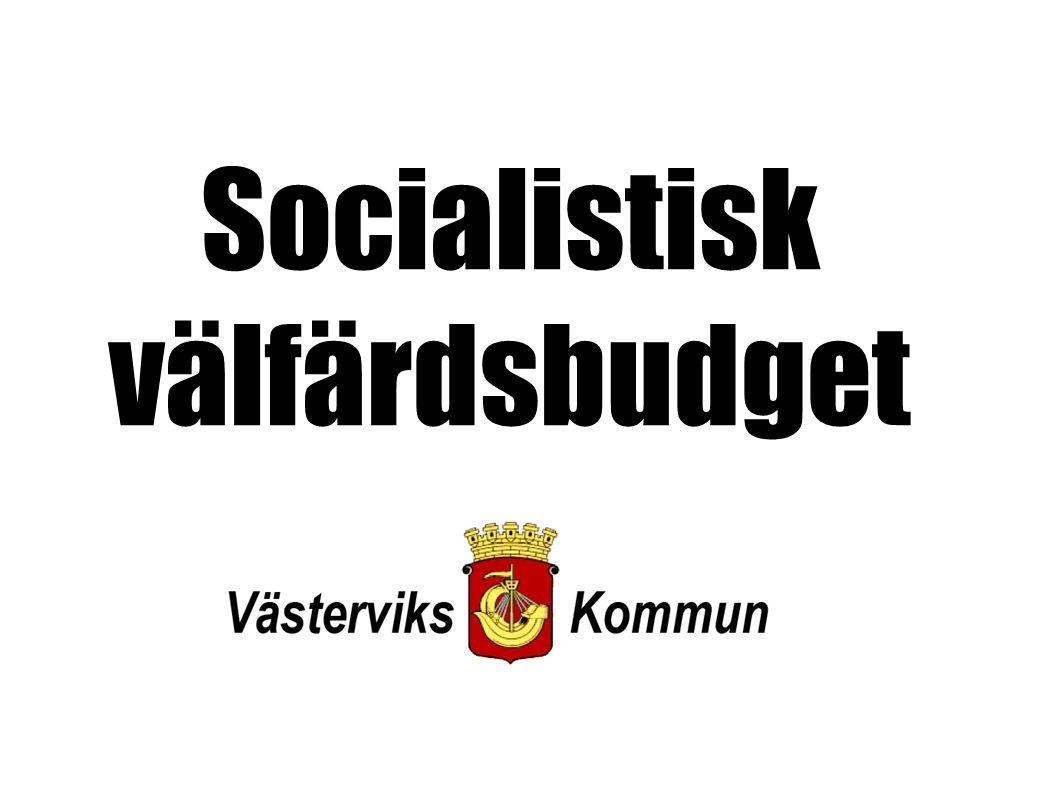 Socialistisk välfärdsbudget