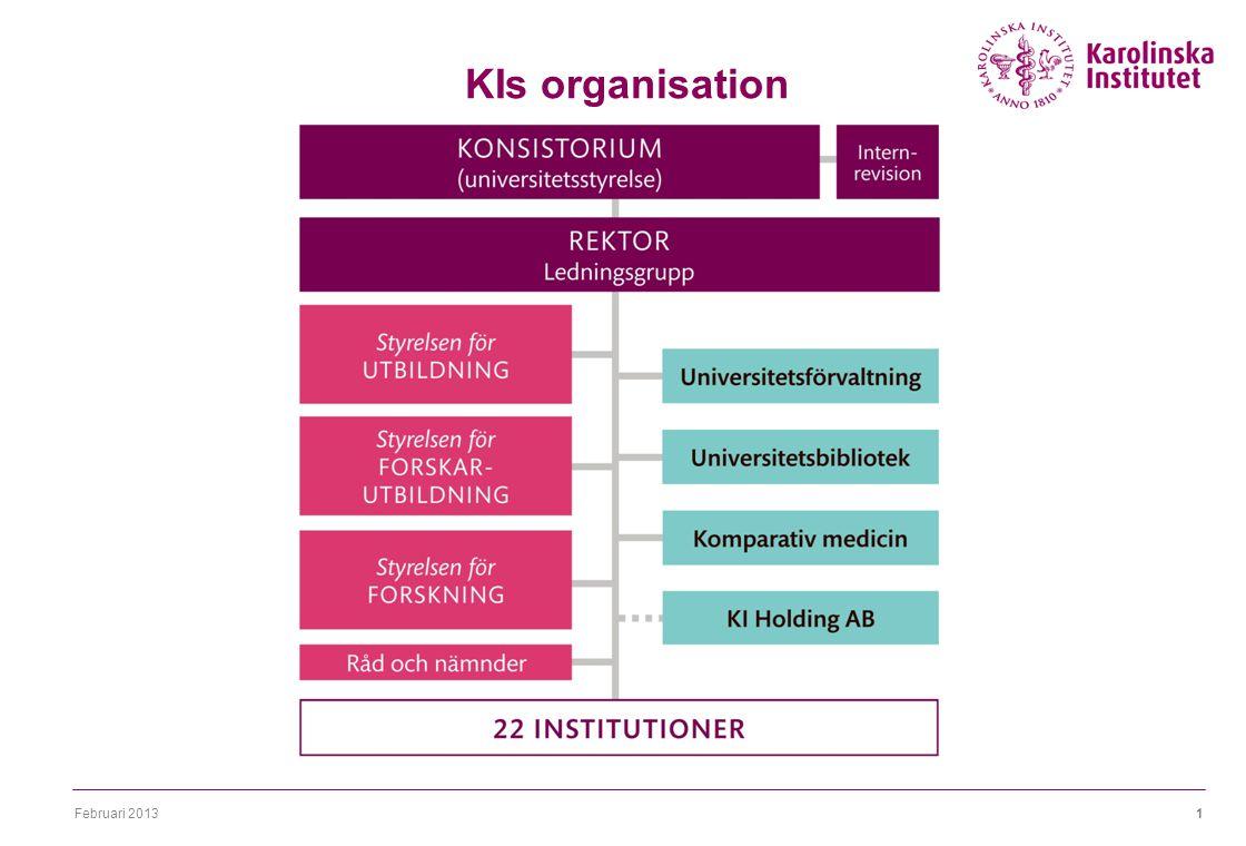 Februari 20131 KIs organisation 22