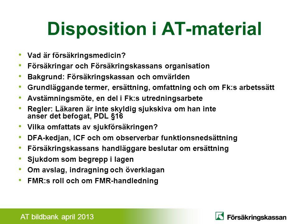 AT bildbank april 2013 DFA-kedjan - Beskrivning av Individen DiagnosFunktionsnedsättningAktivitetsbegränsning Diagnos (Fält 2 i LI) Anger vilken funktion som är nedsatt av sjukdomen.