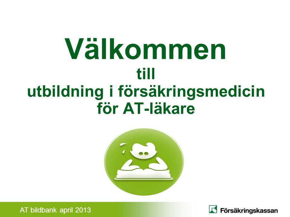 AT bildbank april 2013 Samverkan andra samhällsaktörer Vad är försäkringsmedicin.