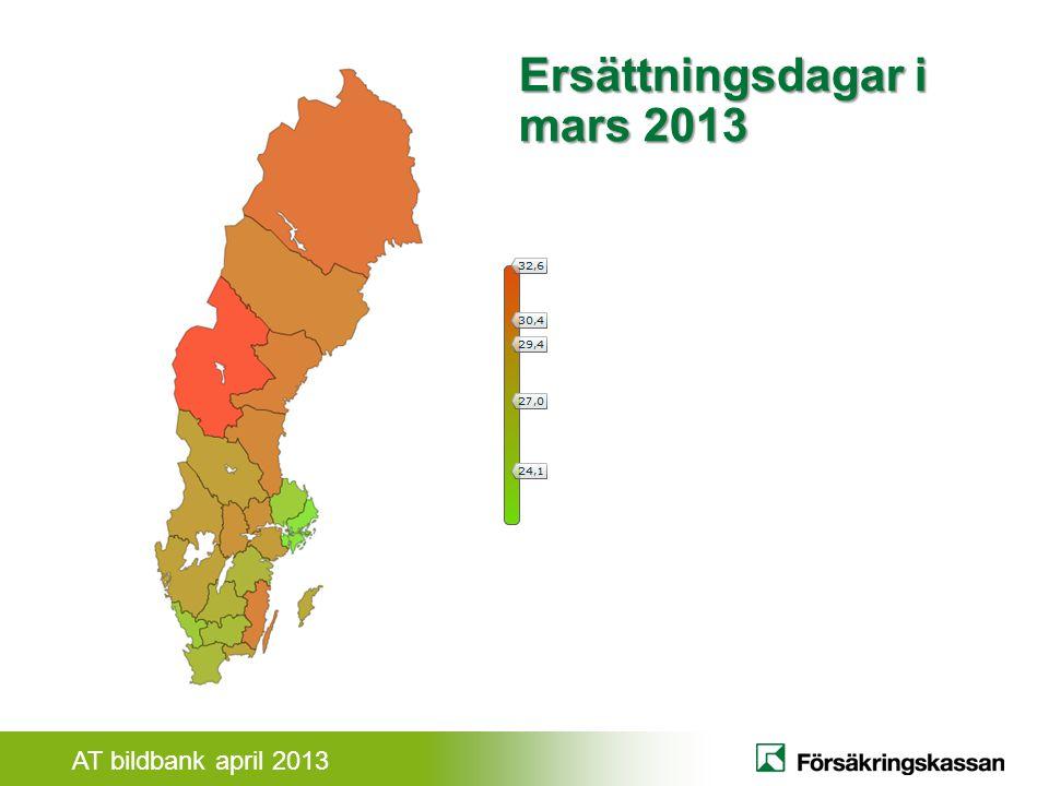 AT bildbank april 2013 Ersättningsdagar i mars 2013 På 60-talet var ännu norrlänningarna friskast i Sverige.