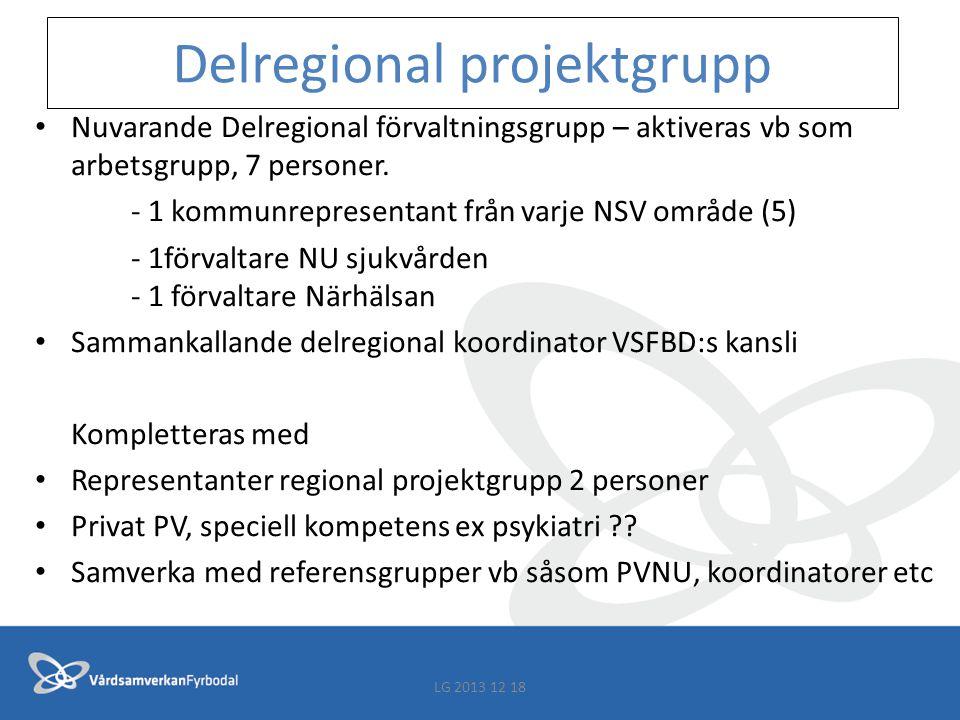 Förvaltare Fyrbodal Finns i alla 15 kommuner, 1(2) i NU-sjukvården, 1 Närhälsan En kommunförvaltare från varje NSV grupp representerar i delregional förvaltningsgrupp (delregional projektgrupp).