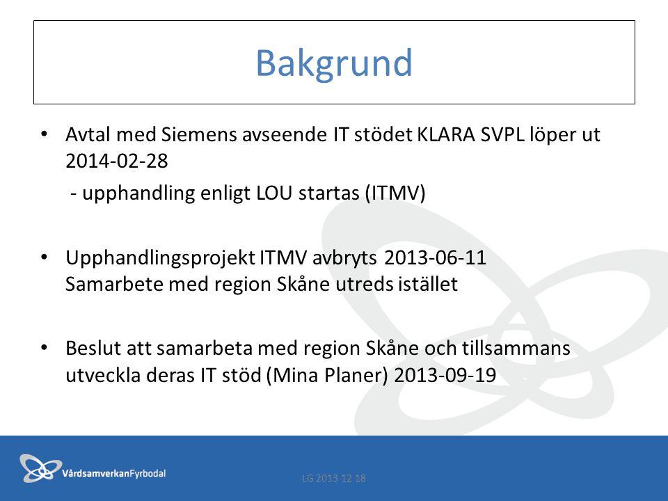 Tidplan införandeprojekt 1 jan 2014 – 15 jan 2015 införandeprojekt inkl.