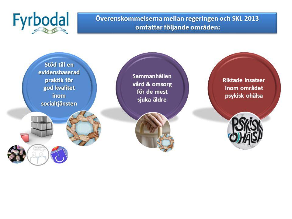Överenskommelserna mellan regeringen och SKL 2013 omfattar följande områden: omfattar följande områden: Överenskommelserna mellan regeringen och SKL 2