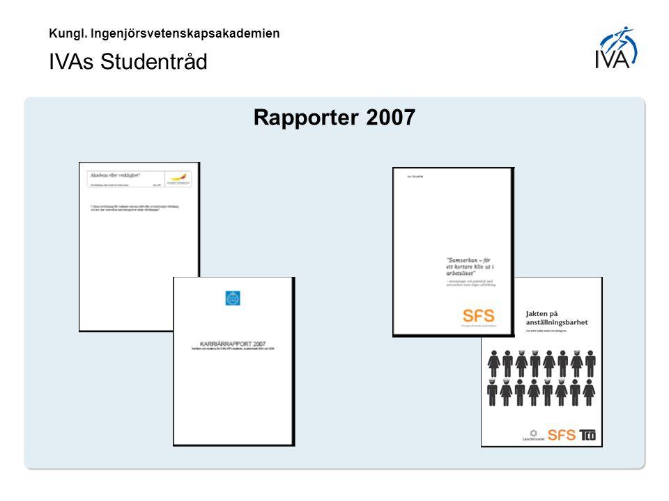 Kungl. Ingenjörsvetenskapsakademien IVAs Studentråd Rapporter 2007