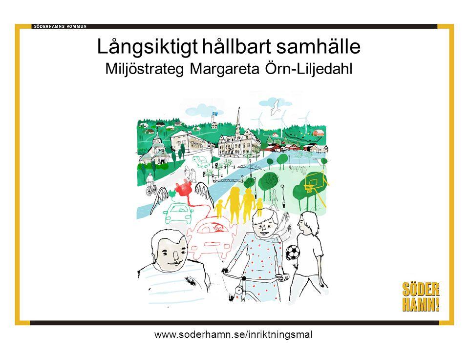 www.soderhamn.se/inriktningsmal Långsiktigt hållbart samhälle Miljöstrateg Margareta Örn-Liljedahl