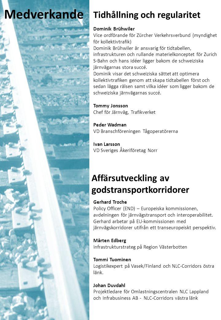 Tidhållning och regularitet Dominik Brühwiler Vice ordförande för Zürcher Verkehrsverbund (myndighet för kollektivtrafik) Dominik Brühwiler är ansvarig för tidtabellen, infrastrukturen och rullande materielkonceptet för Zurich S-Bahn och hans idéer ligger bakom de schweiziska järnvägarnas stora succé.